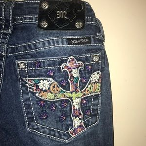 MISS ME psychedelic skinny jeans 27